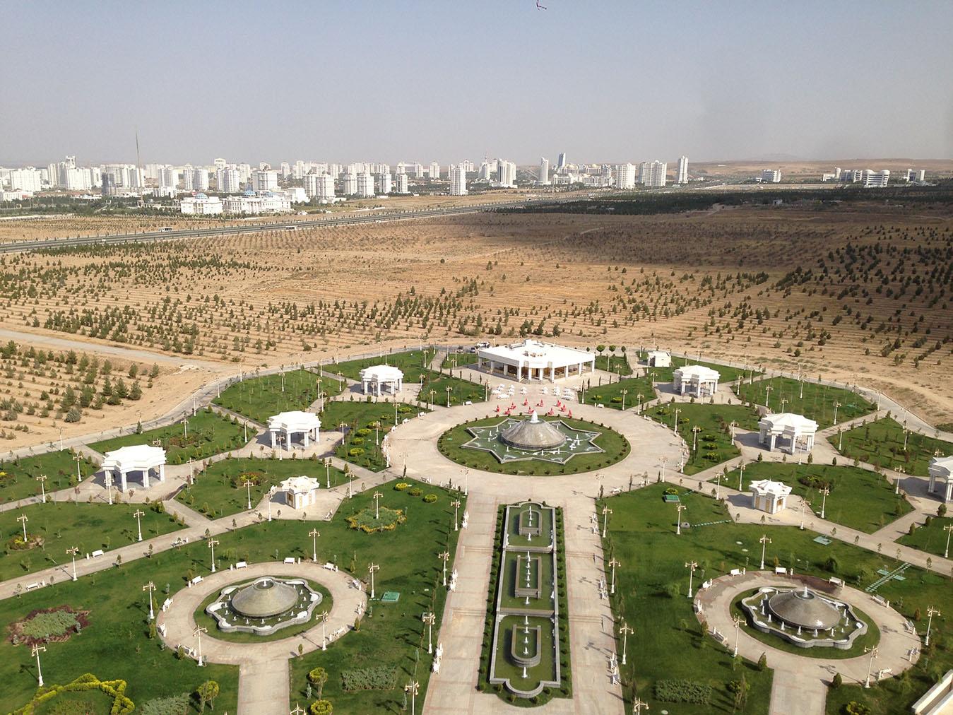 Pohľad na Ašchabad