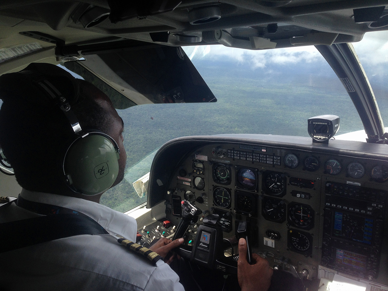 Pohľad z pilotnej kabíny
