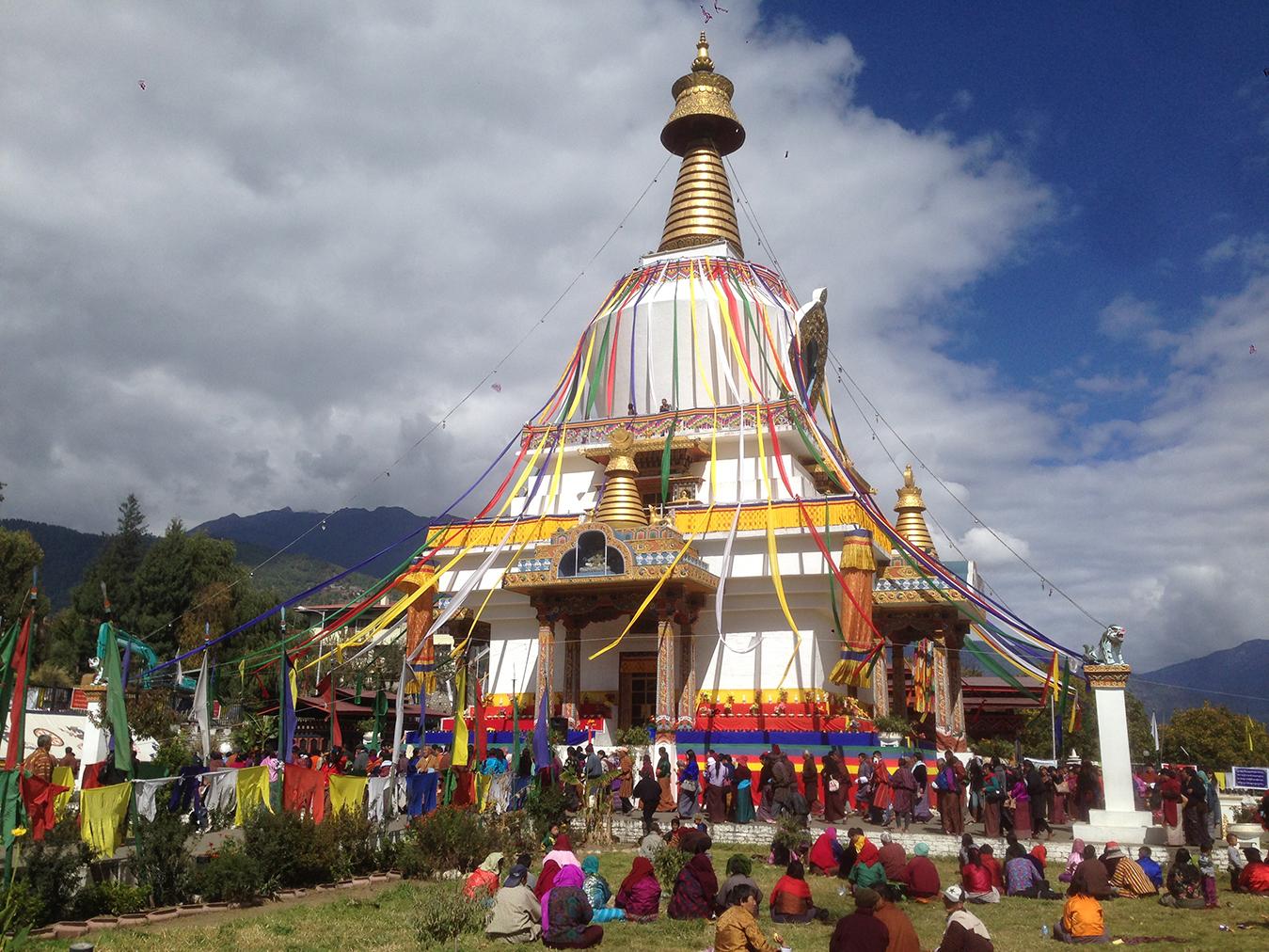 Stupa v strede hlavného mesta Thimbu