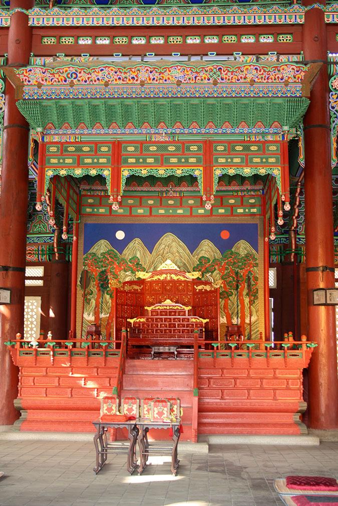 Vnútri paláca Gyeongbokgung