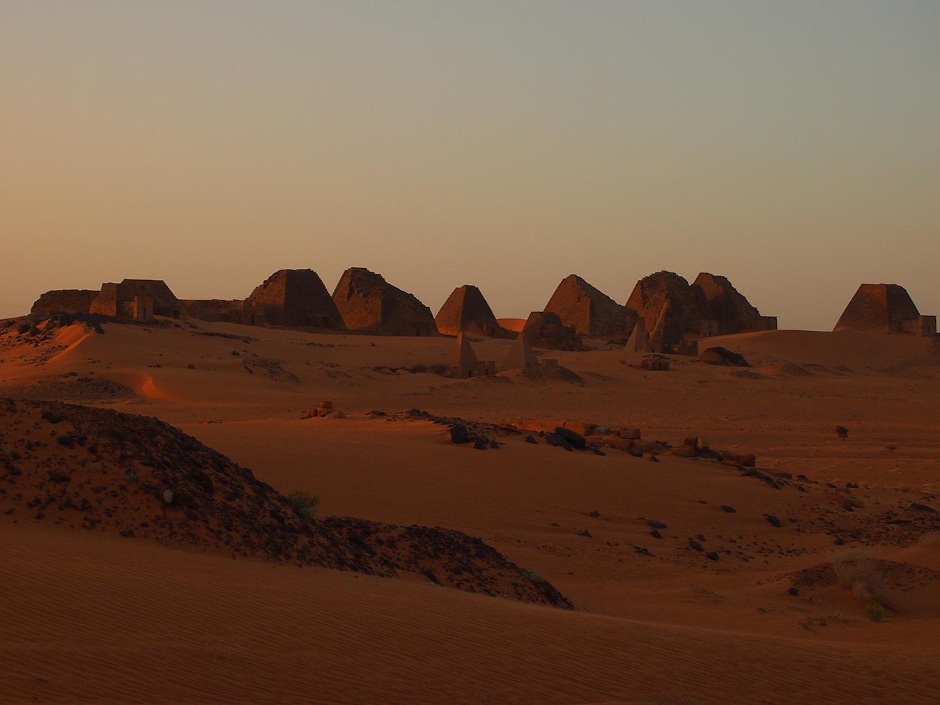 Západ Slnka v Meroe