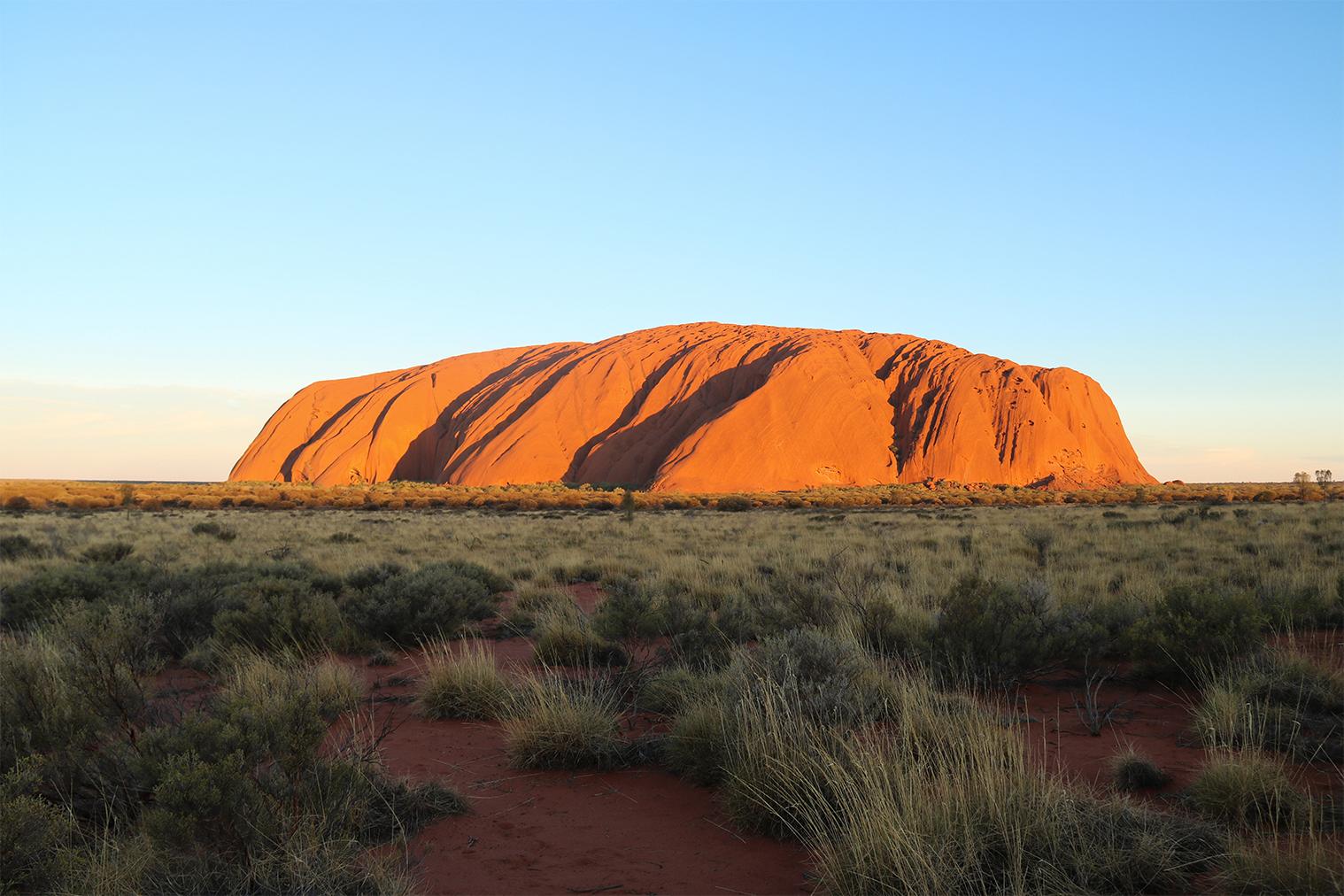 Uluru (Ayers Rock) pri západe Slnka