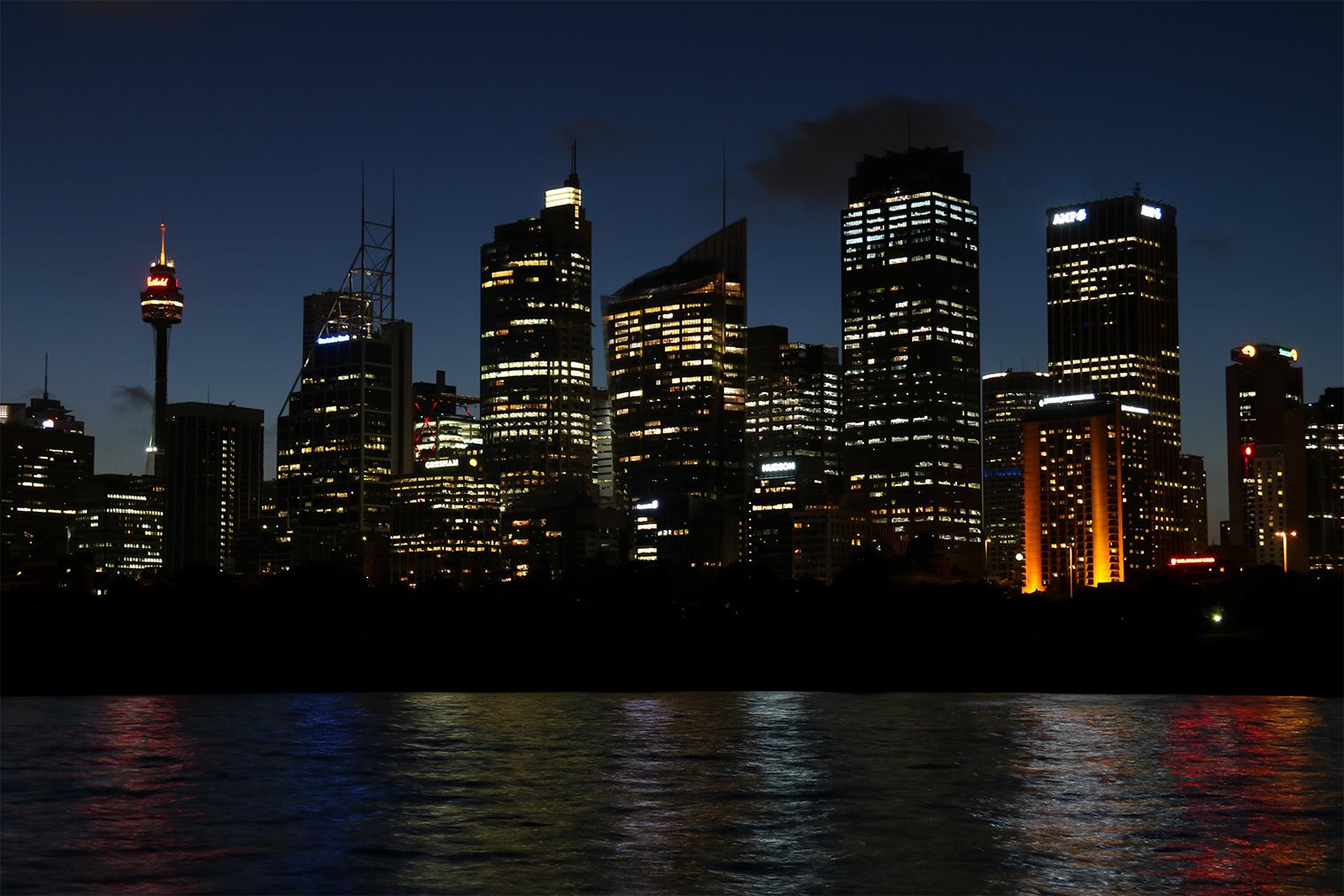 Nočná panoráma Sydney
