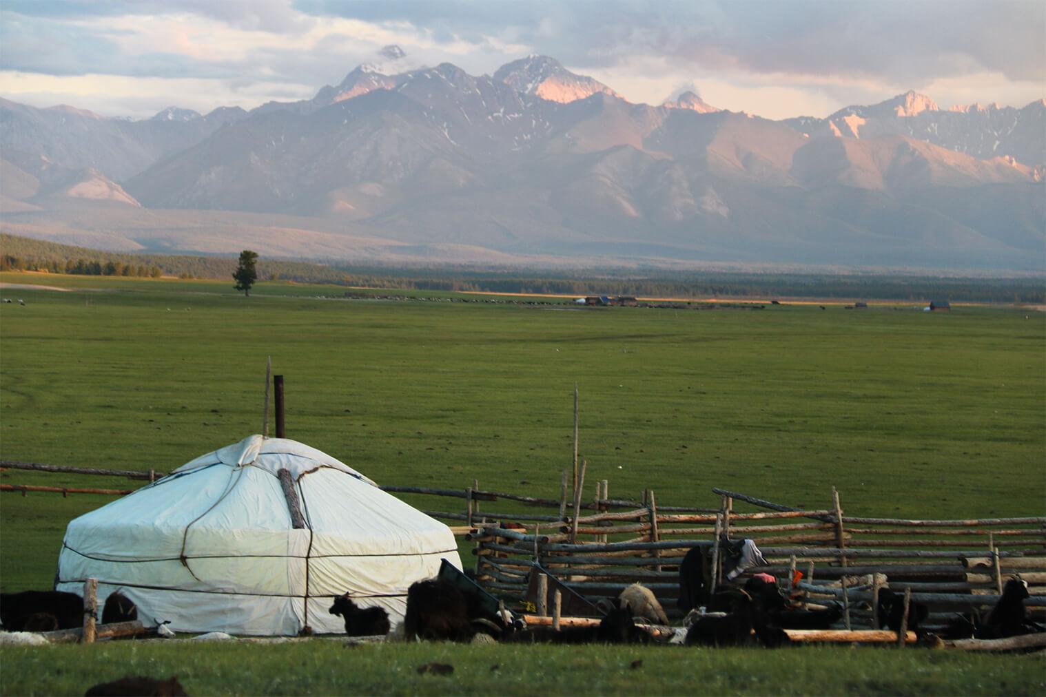 Mongolská scenéria
