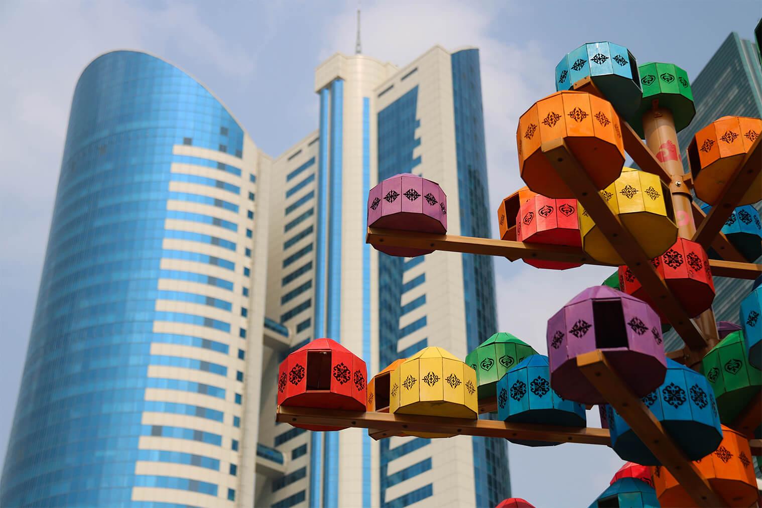 Kazachovia vymenili jurty za moderné výškové budovy