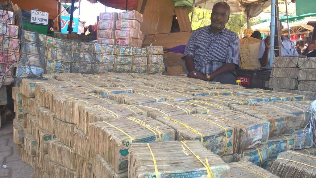 Bežná zmenáreň peňazí v Somalilande