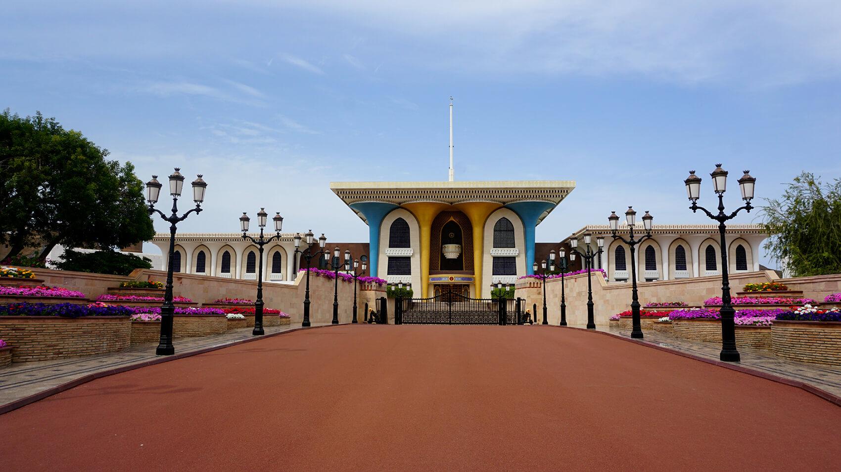 Kráľovský palác Al Alam Palác, Muscat