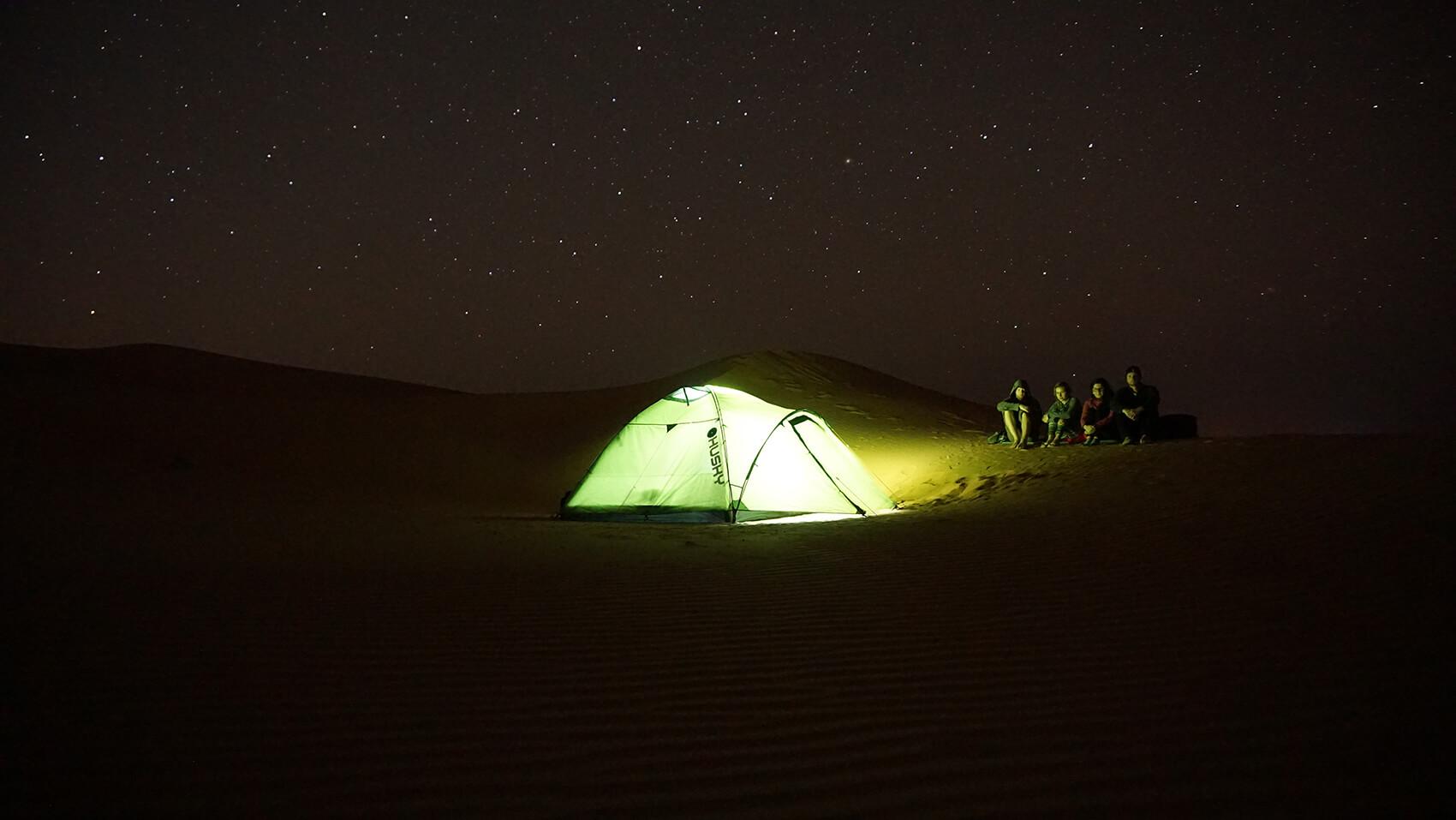 Noc v púšti Wahiba