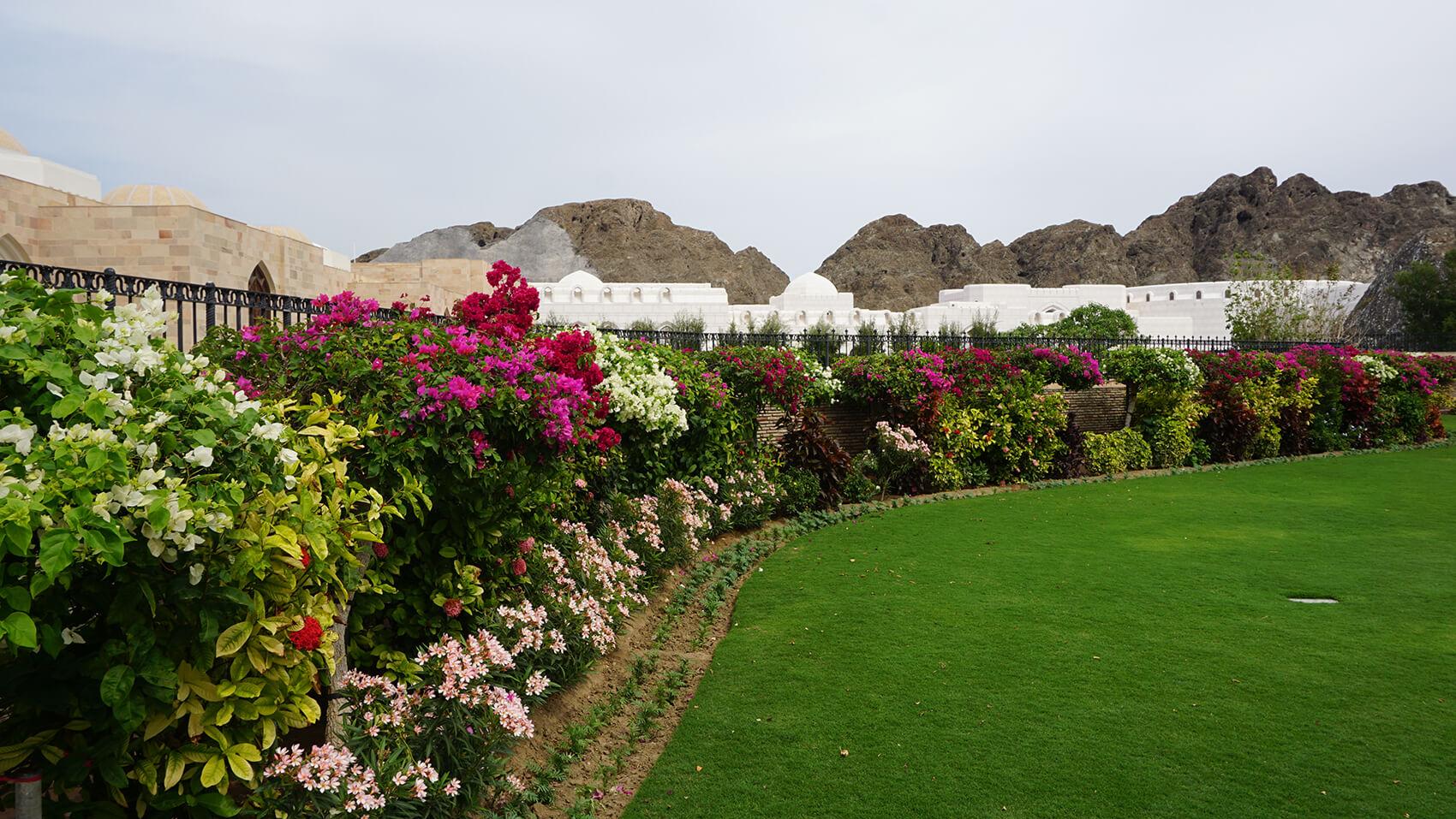 Záhrady v okolí kráľovského paláca