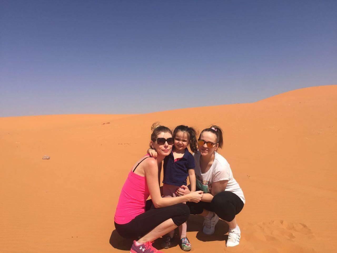 Veronika, Miša a jej dcérka Dareenka na púšti