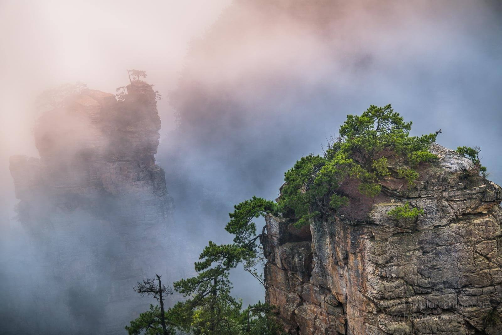 Wulingyuan national forest park in Hunan province, China