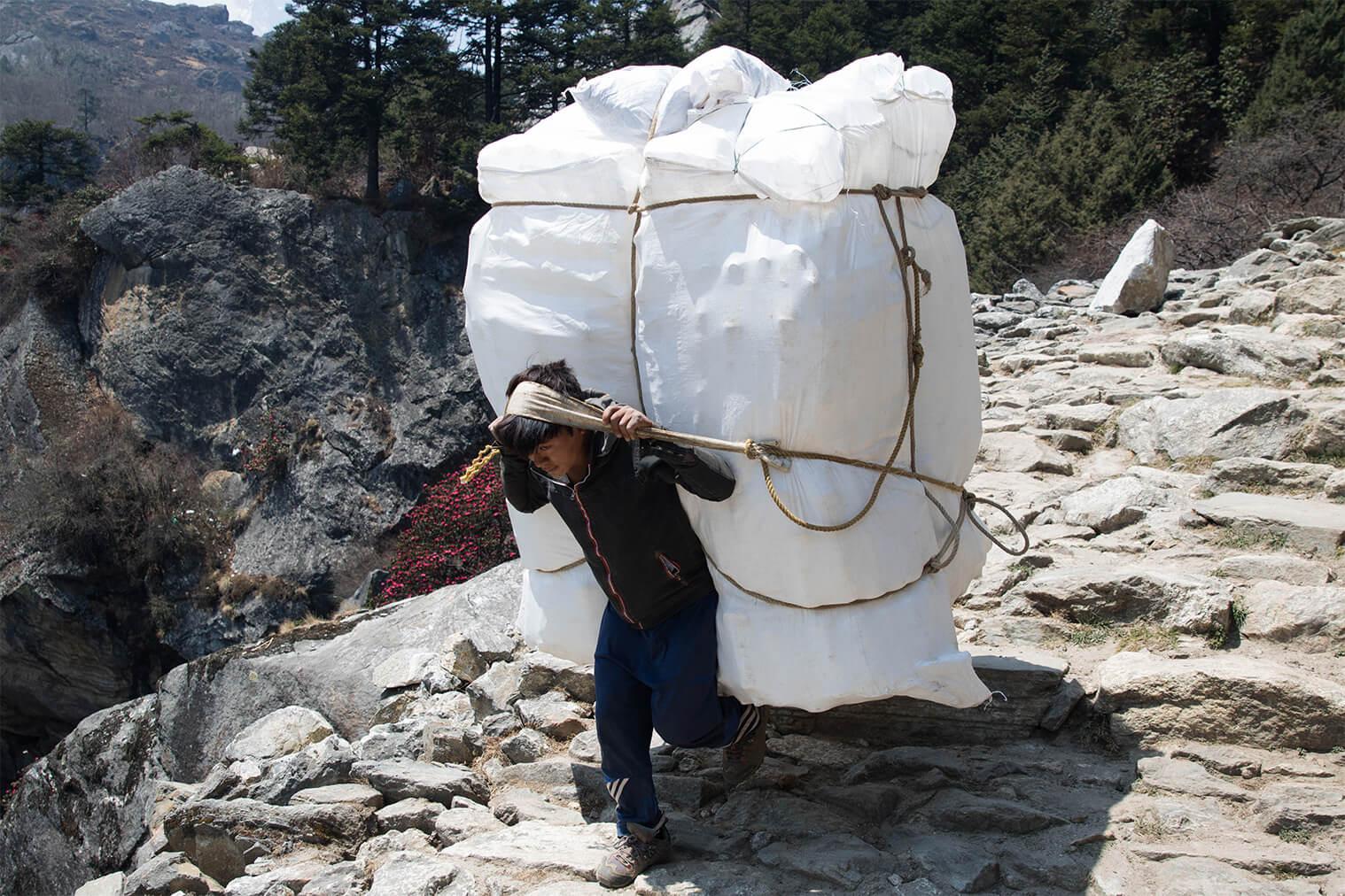 Nosiči sú schopní vyniesť až 90 kg