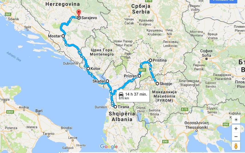 Výzva pre cestovateľa: Balkán za 300 eur