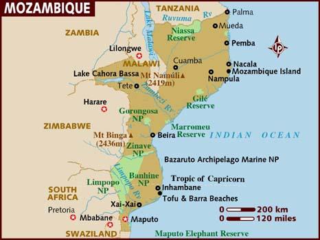 Mozambik – cestovateľské rady, tipy a itinerár